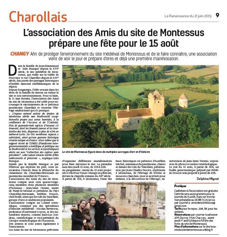 19 06 21 Article La Renaissance Fete 15 aout amis du site jpg