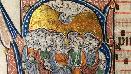 La-Pentecôte-Enluminure-dun-missel-anglais-ca.-1310-1320